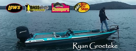 Bass Pro Fisherman and Fishing Angler Ryan Groeteke